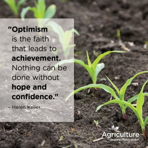 Optimism is the faith that leads to achievement. Nothing can be done without hope and confidence.  Helen Keller
